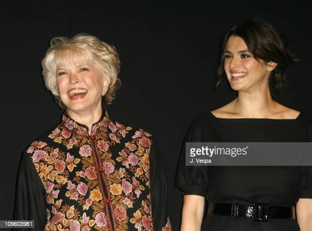 Ellen Burstyn and Rachel Weisz during 31st Annual Toronto International Film Festival 'The Fountain' Premiere Red Carpet and Inside at Visa Screening...