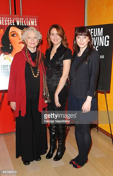 Ellen Burstyn Bryce Dallas Howard and Jodie Markell attend Tennessee Williams on Screen and Stage at The Times Center on December 9 2009 in New York...