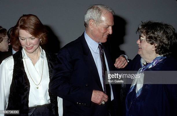 Ellen Burstyn Paul Newman and Shelley Winters during The New School For Social Research The Actors Studio Announce New Education Program at The New...