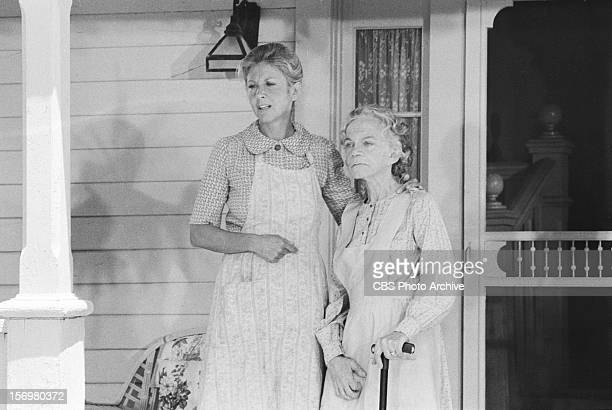 Ellen Corby as Esther Walton right and Michael Learned as Olivia Walton on The Empty Nest Image dated June 16 1978