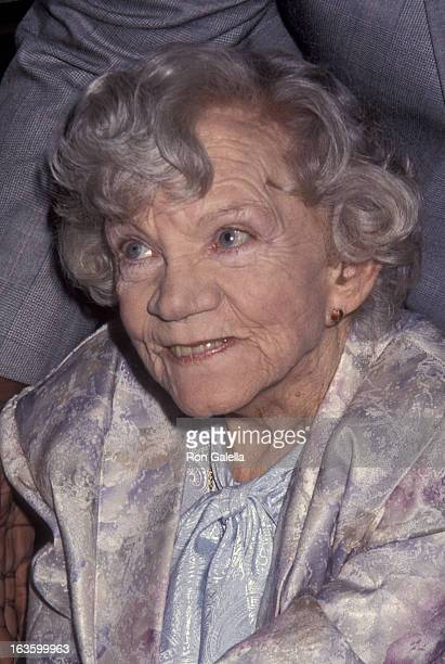 Ellen Corby attends 10th Annual Golden Boot Awards on August 15 1992 at the Century Plaza Hotel in Century City California