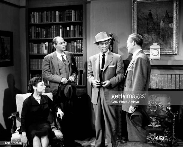 Ellen Corby Robert Ellenstein Kenneth Tobey and Carlyle Mitchell star in The Whistler a CBS syndicated television film suspense series Episode The...