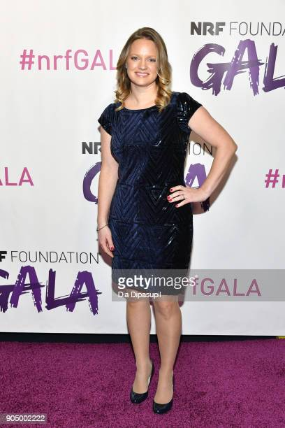 Ellen Davis attends the 2018 National Retail Federation Gala at Pier 60 on January 14 2018 in New York City
