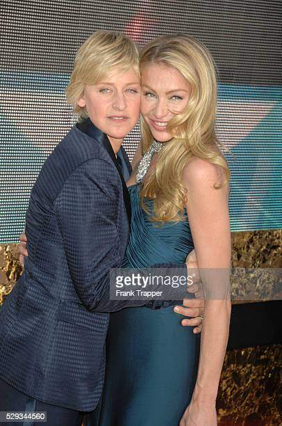 Ellen DeGeneres and Actress Portia de Rossi arrive at the 59th annual Primetime Emmy�� Awards held at the Shrine Auditorium
