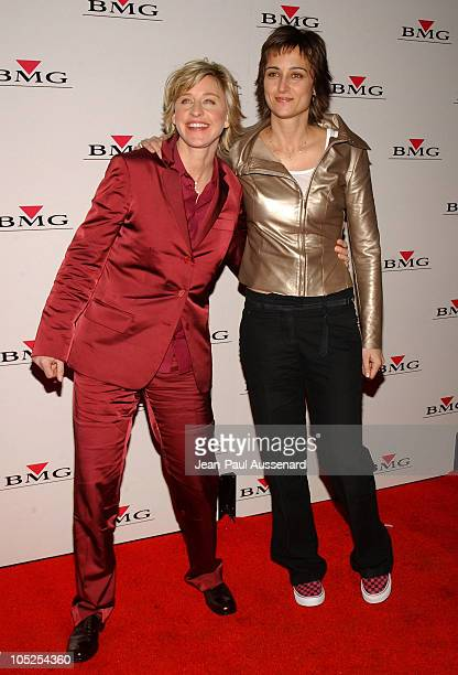 Ellen DeGeneres and Alexandra Hedison during BMG After GRAMMY Party - Arrivals at Avalon in Hollywood, California, United States.