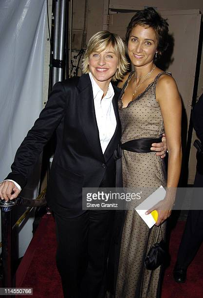 Ellen DeGeneres and Alexandra Hedison during The 56th Annual Primetime Emmy Awards Governors Ball at The Shrine Auditorium in Los Angeles California...