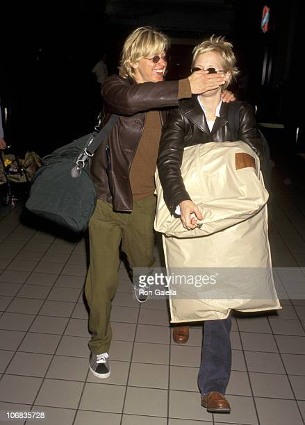 Ellen DeGeneres and Anne Heche during Anne Heche and Ellen DeGeneres sighting at the Los Angeles International Airport April 26 1997 at Los Angeles...