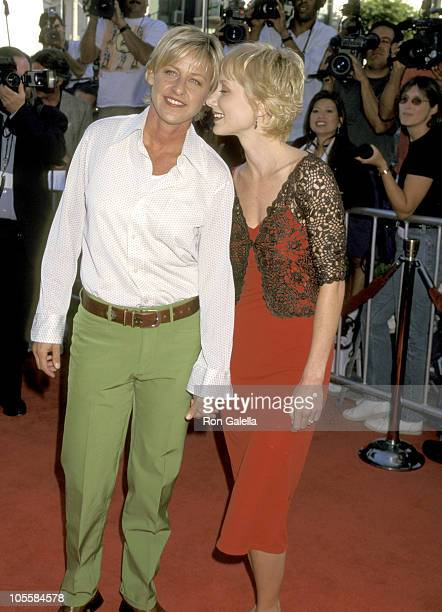 Ellen DeGeneres and Anne Heche during 'Contact' Los Angeles Premiere in Westwood California United States