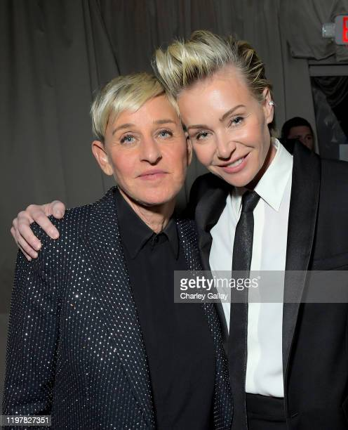Ellen DeGeneres and Portia de Rossi attend the Netflix 2020 Golden Globes After Party on January 05 2020 in Los Angeles California