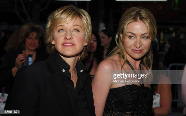 Ellen DeGeneres and Portia de Rossi during 32nd Annual Daytime Emmy Awards - Arrivals at Radio City Music Hall in New York City, New York, United...