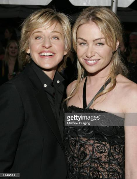 Ellen DeGeneres and Portia de Rossi during 32nd Annual Daytime Emmy Awards Arrivals at Radio City Music Hall in New York City New York United States