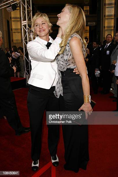 Ellen DeGeneres and Portia de Rossi during 34th Annual Daytime Emmy Awards Red Carpet at Kodak Theatre in Hollywood California United States