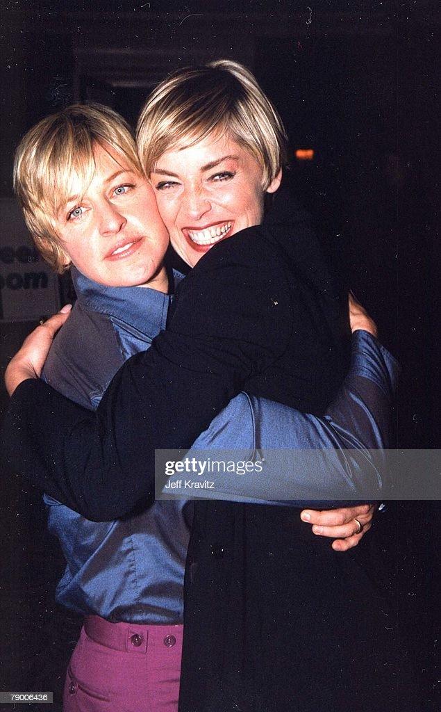 Ellen DeGeneres and Sharon Stone
