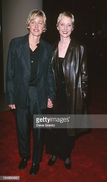 Ellen DeGeneres & Anne Heche during American Film Institute Honors Harrison Ford with 2000 Lifetime Achievement Award at Beverly Hilton Hotel in...