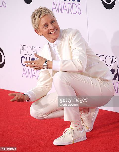 Ellen DeGeneres arrives at The 41st Annual People's Choice Awards at Nokia Theatre LA Live on January 7 2015 in Los Angeles California