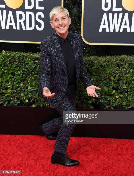 Ellen DeGeneres arrives at the 77th Annual Golden Globe Awards attends the 77th Annual Golden Globe Awards at The Beverly Hilton Hotel on January 05,...