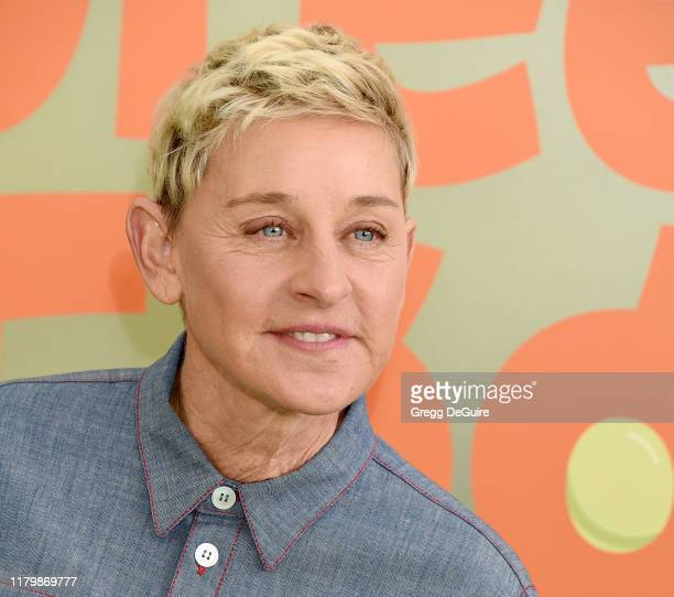 """Ellen DeGeneres arrives at the Premiere Of Netflix's """"Green Eggs And Ham"""" at Hollywood American Legion on November 3, 2019 in Los Angeles, California."""