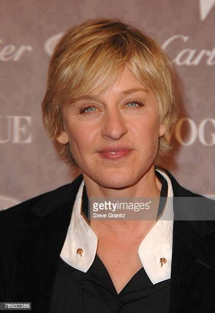 Ellen DeGeneres arrives to The Art of Elysium 10th Anniversary Gala at Vibiana on January 12 2008 in Los Angeles California