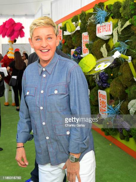 Ellen DeGeneres attends Netflix 'Green Eggs & Ham' Los Angeles Premiere at Post 43 on November 03, 2019 in Los Angeles, California.