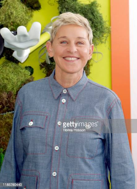 "Ellen DeGeneres attends the premiere of Netflix's ""Green Eggs And Ham"" at Hollywood American Legion on November 03, 2019 in Los Angeles, California."