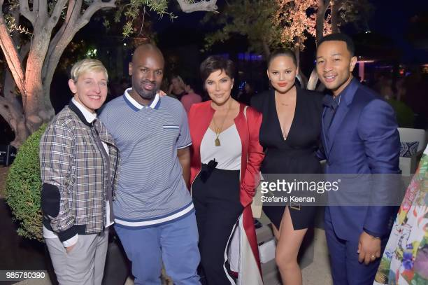 Ellen DeGeneres Corey Gamble Kris Jenner Chrissy Teigen and John Legend attend GENERAL PUBLIC x RH Celebration at Restoration Hardware on June 27...
