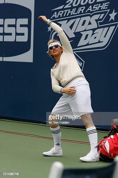 Ellen DeGeneres during Arthur Ashe Kids Day at the US Open - August 26, 2006 at USTA National Tennis Center in Flushing, New York, United States.