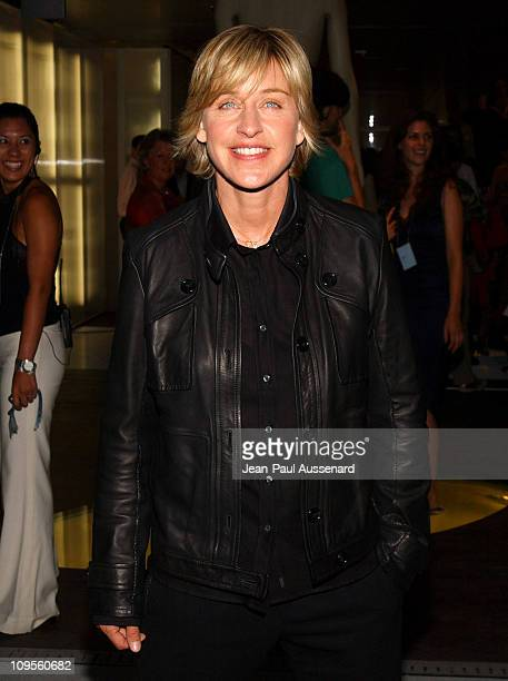 Ellen DeGeneres during Prada Opens Beverly Hills Epicenter Arrivals at Rodeo Drive in Beverly Hills California United States