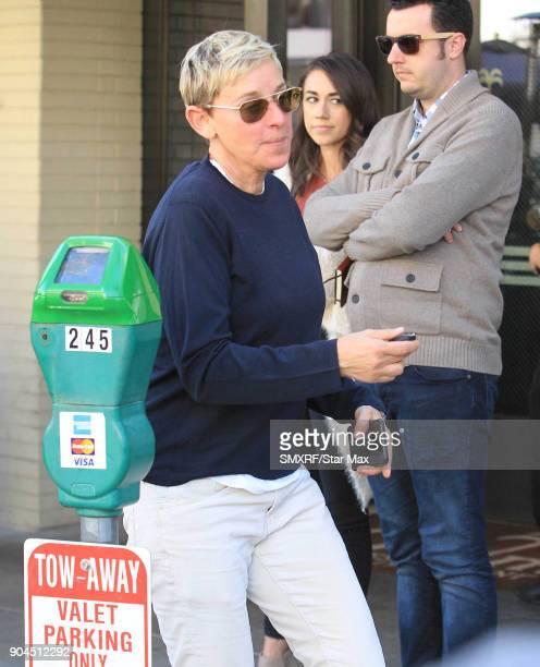 Ellen DeGeneres is seen on January 12 2018 in Los Angeles CA