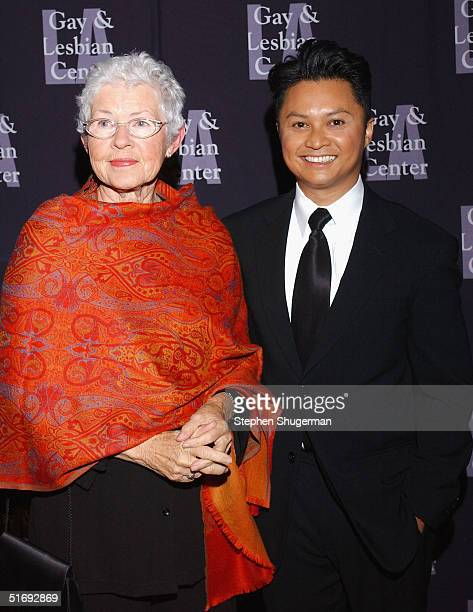 Ellen DeGeneres' mother Betty DeGeneres and actor Alec Mapa attend the LA Gay and Lesbian Center's 33rd Aniversary and Auction at the Westin Century...