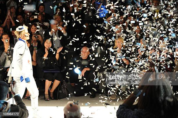 Ellen DeGeneres walks the runway as Portia de Rossi attends the Richie Rich Spring 2011 fashion show during MercedesBenz Fashion Week at The Studio...