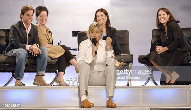 Ellen Degeneres with Andy Spade Kate Spade Bobbi Brown and Jean Chatzky