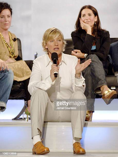Ellen Degeneres with Kate Spade and Bobbi Brown during 'Making a Name For Yourself' An 'OPEN' Forum Show Taping at Nokia Theateer in New York City...