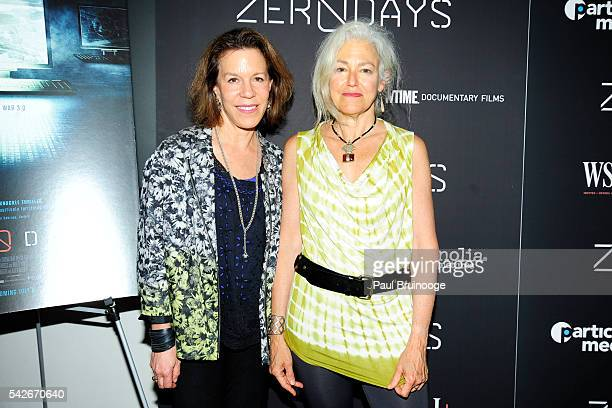 Ellen Goosenberg Kent and Kate Davis attend WSJ Presents the New York Premiere of ZERO DAYS at New York Institute of Technology on June 23 2016 in...