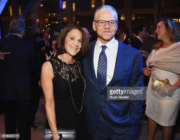Ellen Grinberg and Efraim Grinberg attend the Winter Gala at Lincoln Center at Alice Tully Hall on February 13 2018 in New York City