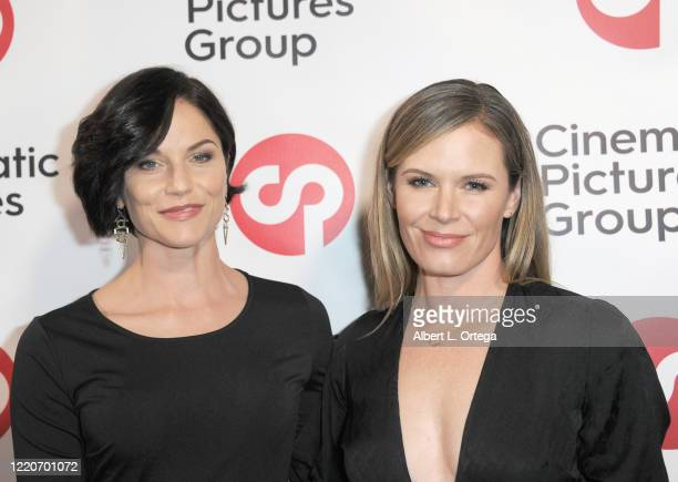 """Ellen Hollman and Lauren Shaw attend the Launch And Signing For Crescenzo Notarile's Book """"Nude"""" held at Cinematic Pictures Gallery on February 22,..."""