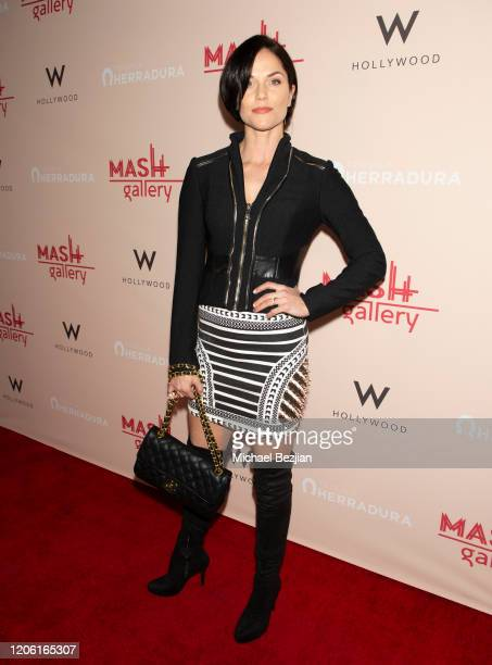 Ellen Hollman arrives at A Gogo by Mash Gallery on February 13, 2020 in Los Angeles, California.