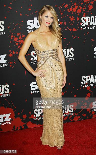 Ellen Hollman arrives at the Los Angeles premiere of Spartacus War Of The Damned held at Regal Cinemas LA LIVE Stadium 14 on January 22 2013 in Los...