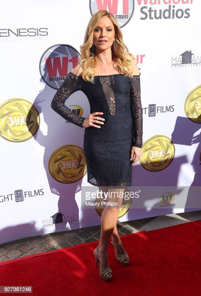 Ellen Hollman attends Hollywood Stars Gala Academy Awards Viewing Party at Waldorf Astoria Beverly Hills on March 4, 2018 in Beverly Hills,...