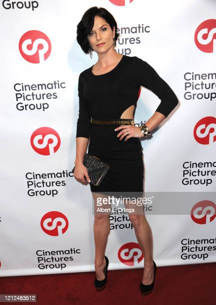 """Ellen Hollman attends the Launch And Signing For Crescenzo Notarile's Book """"Nude"""" held at Cinematic Pictures Gallery on February 22, 2020 in..."""