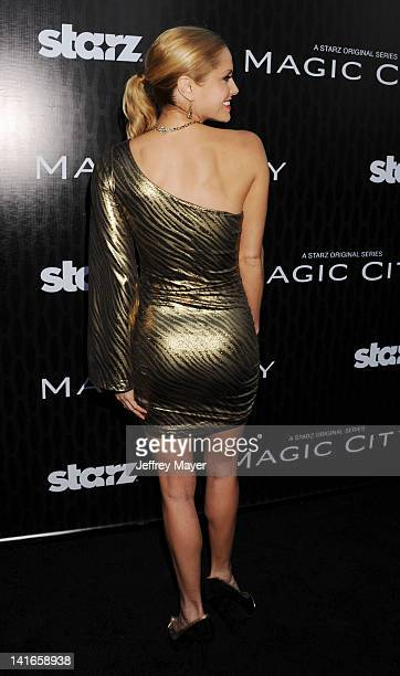 Ellen Hollman attends the Starz 'Magic City' Los Angeles Series Premiere at Directors Guild Of America on March 20 2012 in Los Angeles California