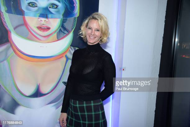 Ellen Houx attends Delusions of the Wild Solo Exhibition By Alexandra Houx Grounds at 213 Bowery on October 17 2019 in New York City