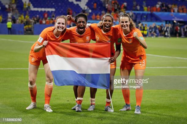 Ellen Jansen of Holland Women, Liza van der Most of Holland Women, Lineth Beerensteyn of Holland Women, Renate Jansen of Holland Women Celebrating...