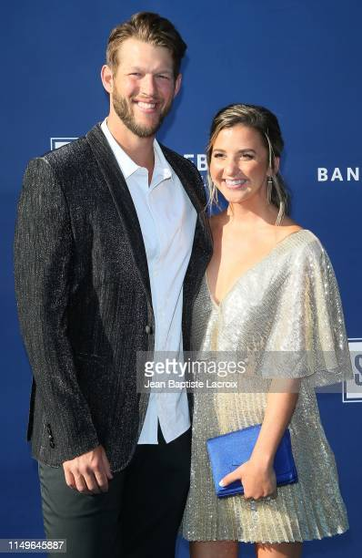 Ellen Kershaw and Clayton Kershaw attend the 5th Annual Blue Diamond Foundation at Dodger Stadium on June 12, 2019 in Los Angeles, California.