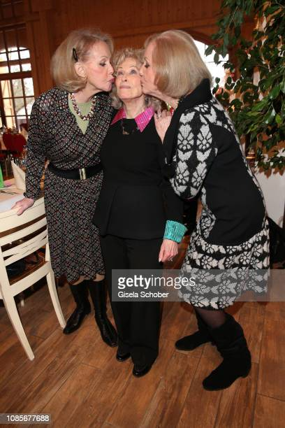 Ellen Kesser Bibi Johns and Alice Kessler during the prebirthday party of Bibi Johns My last day 89 at Gut Aiderbichl on January 20 2019 in Iffeldorf...