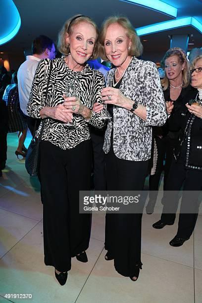 Ellen Kessler and her twin sister Alice Kessler during the Munich premiere of the musical 'Ich war noch niemals in New York' at Deutsches Theatre on...