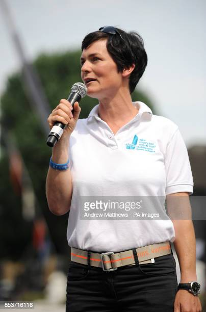 Ellen MacArthur speaks at the Clipper Round the World Race Finish