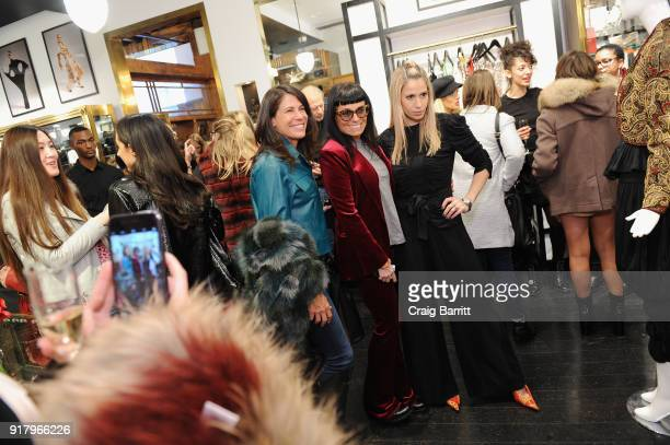 Ellen Macks Norma Kamali and Sophia Macks attend Vintage For The Future A Norma Kamali Retrospective by What Goes Around Comes Around on February 13...