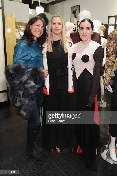 Ellen Macks Sophia Macks and Daniela Casado attend Vintage For The Future A Norma Kamali Retrospective by What Goes Around Comes Around on February...