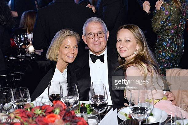 Ellen Meyer Ron Meyer and Jennifer Meyer attend PSLA partners with Carolina Herrera for Winter Gala on January 26 2017 in Beverly Hills California