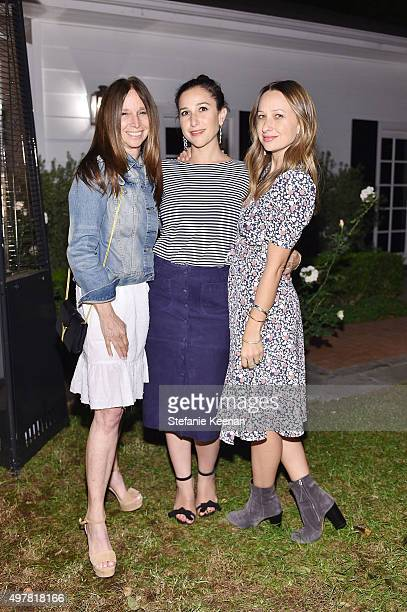 Ellen Meyer Sarah Meyer and designer Jennifer Meyer attend Barneys New York Jennifer Aniston and Tobey Maguire host a private dinner to celebrate The...